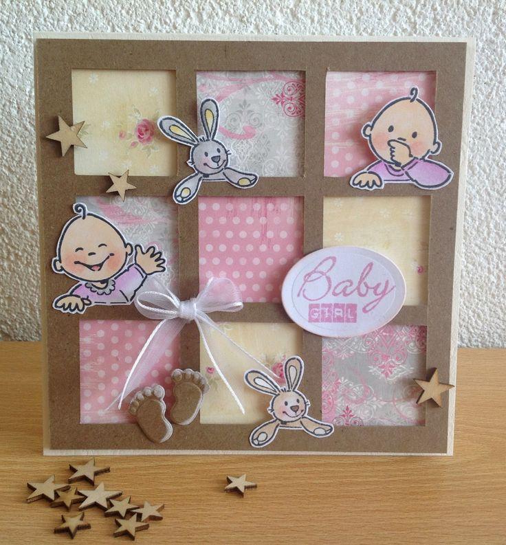 Marcella ,s Kaarten: Baby kaartje........