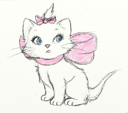 i think one day i might get myself a fluffy white kitten, put a pink bow or two on her and name her Marie