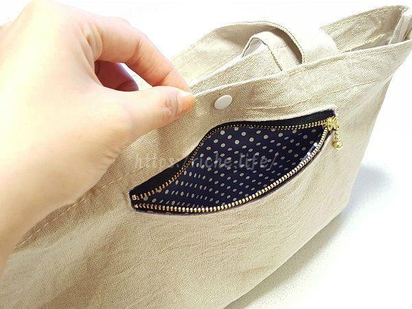 """""""このトートバッグ、ポケットが付いていたら便利なのに…""""そう感じることってありませんか?そんな時は思い切って自分でポケットを作っちゃいましょう!今回はバッグの外側から使えるファスナ"""