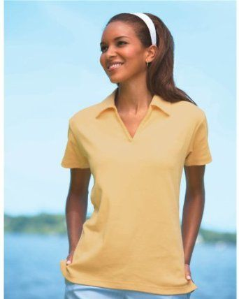 Jockey Ladies Satin-Trim 1X1 Rib Polo, Iris , Small Jockey. $34.50