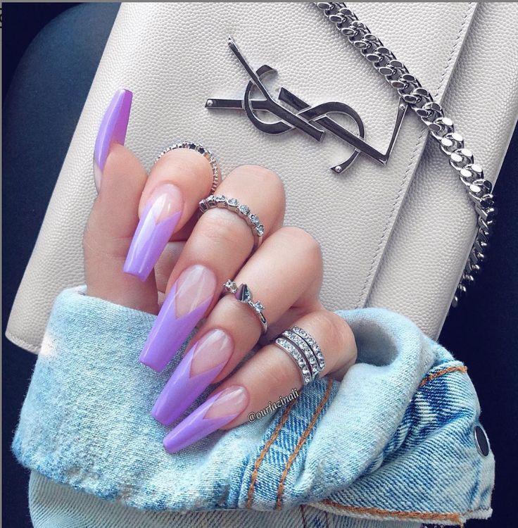 30 natürliche Matte Casket Nails Design mit verschiedenen Farben für den Frühling …