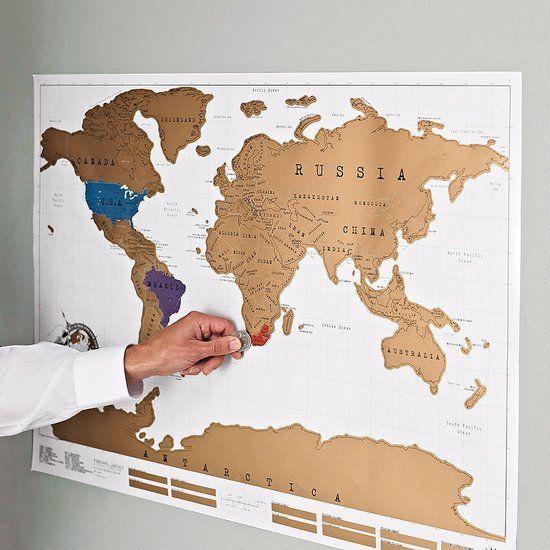 Wereldkaart kraskaart Wereld kaart 88 x 52 cm / Scratch Map / Kras de bezochte landen vrij