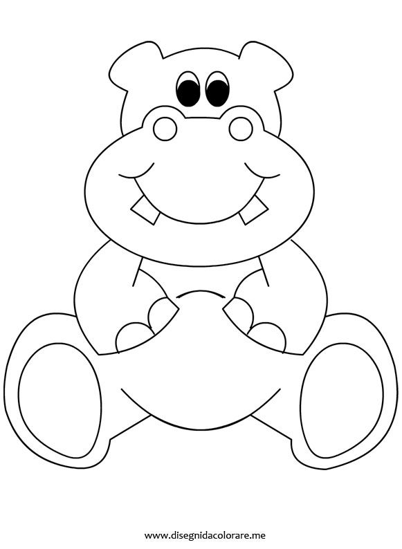 Hippo coloring pages for preschoolers ~ 17+ best images about Preschool Coloring Sheets on ...