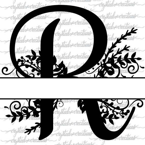 Letter R Split Monogram Svg  Png  Dxf  Regal Split