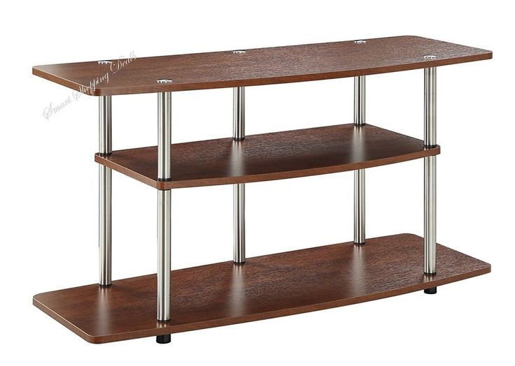 3-Tier Wide TV Stand Up to 42 Inches Home Furniture Table Wood Grain Finish  #ConvenienceConcepts
