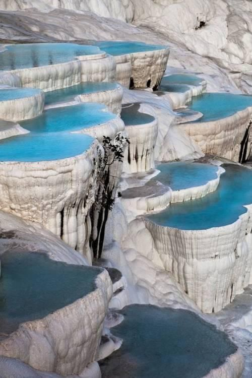 pascal leroi: Natural terrace pool, Pamukkale, Turkey #Lockerz