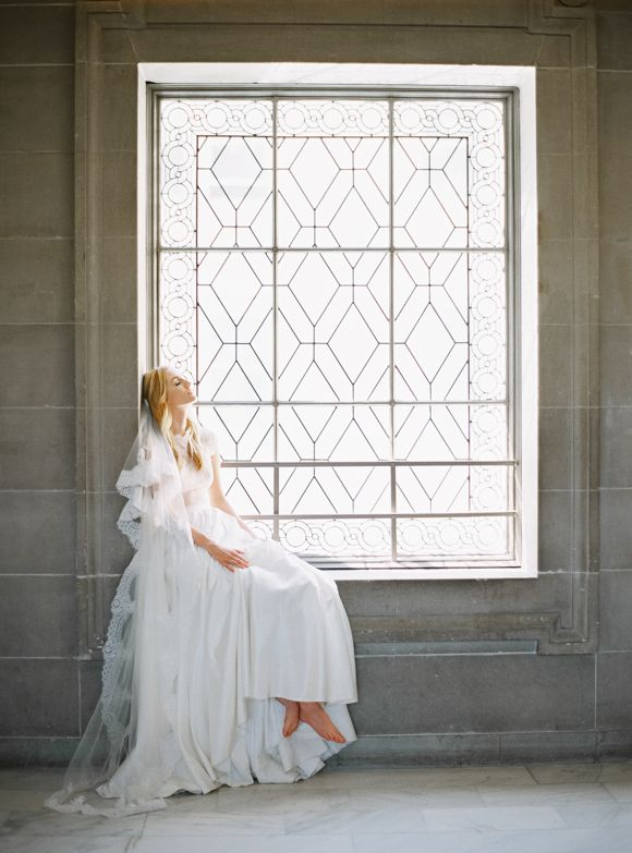 The very lovely San Francisco based wedding photographer MICHELE BECKWITH collaborated with Sierra Ramke of THE BABUSHKA BALLERINA in this sweet shoot based on two friends dreaming of their wedding someday. Captured at the iconic San Francisco City Hall,