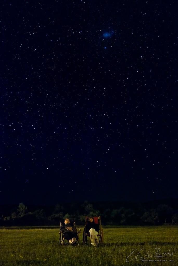 Starbathing By Charles Brooks Christmas eve, Mancera Island, Chile.