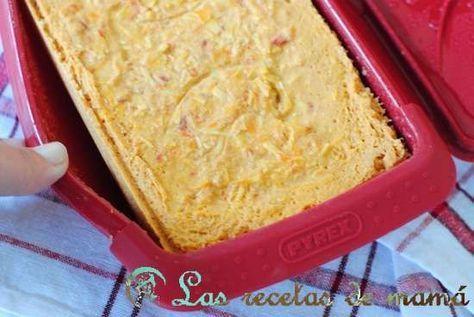 Pastel de atún y pimientos de piquillo en micro