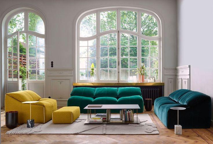 3 canapés design aux formes arrondies