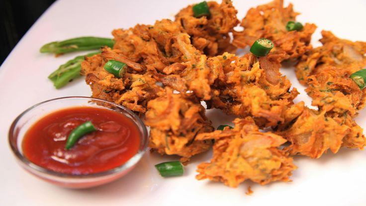 Kanda Bhajji/Pyaaz Pakora (Onion Crisps) By Archana
