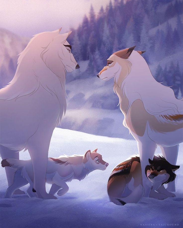 Картинки стай волков аниме