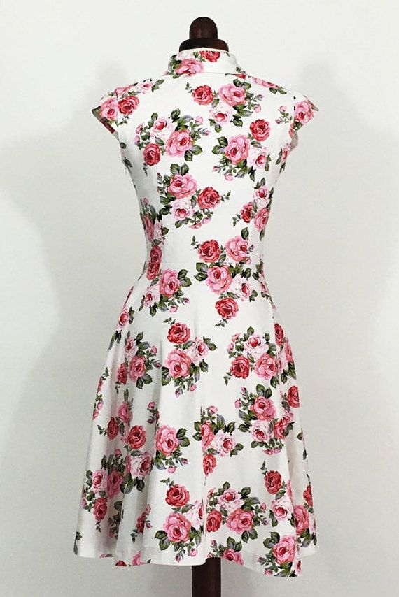 Floral dress for women pink rose dress summer dress wedding