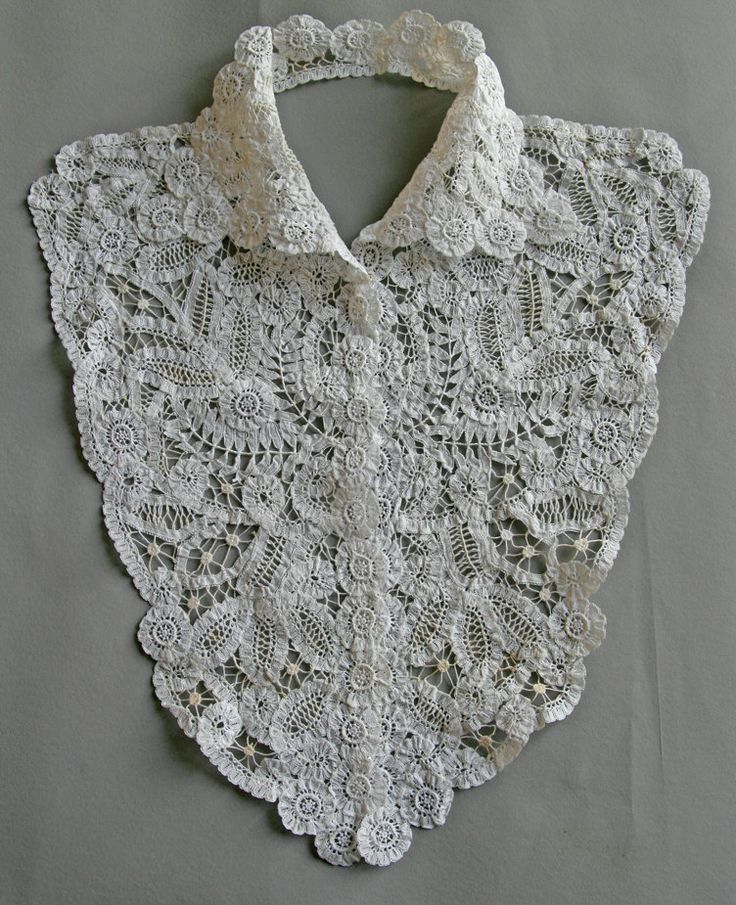 Vintage 1910's  Plastron Collar lace Bruges di SergineBroallier