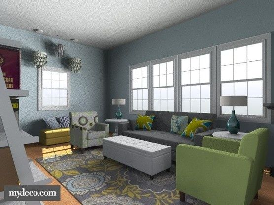 This Is The Living Room I Designed For Our Very Awkward