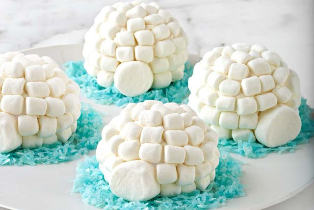 Petits gâteaux igloos