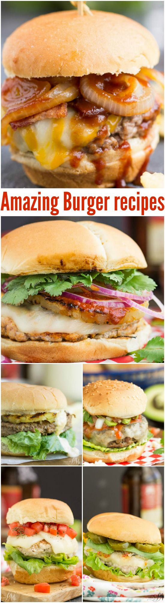 10 Amazing Burger recipes - (REPLACE: Pork items with choice Kosher or Vegetarian items)