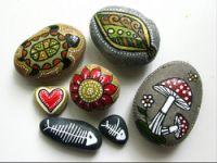 Gallery.ru / Фото #6 - Еше расписные камушки - Pavla-K
