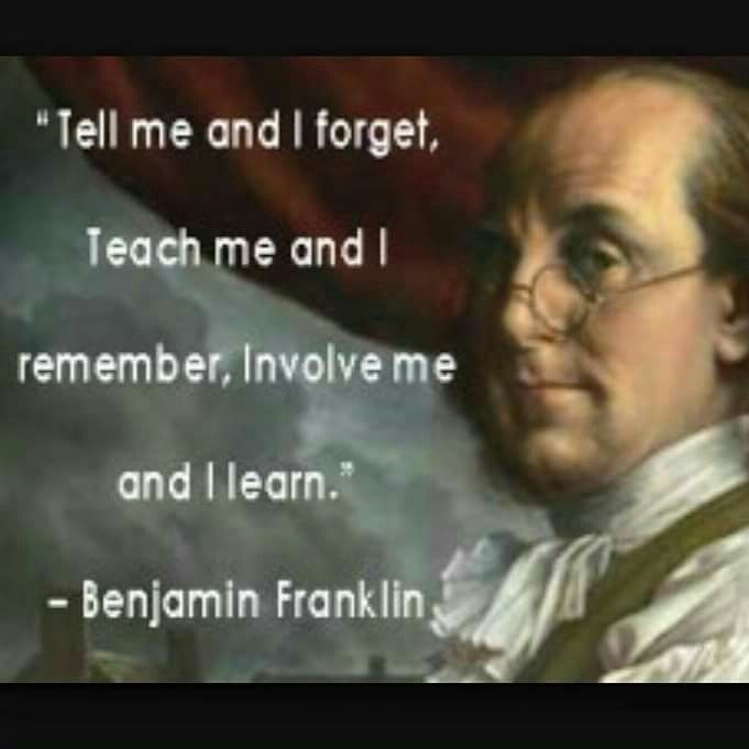 Ben Franklin Get Involved In Good Works And Feel A Life Full Of