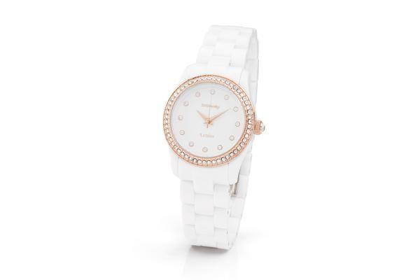 #WATCHES #T COLOR MINI  #Brosway bianco con ghiera in oro rosa € 59.00