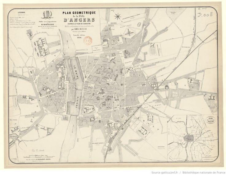 Plan géométrique de la ville d'Angers d'après le plan du cadastre modifié conformément à l'état actuel de la ville (Nouvelle édition) /…
