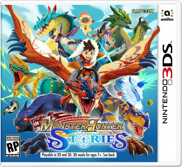 Could Monster Hunter Stories' amiibo be coming to NA/EU?   Capcom hasn't said if they're bringing the Monster Hunter Stories amiibo to Europe and North America but the NA boxart above seems to give a hint. As you can see the amiibo logo is present. Why bother putting that on there if there weren't plans to bring the amiibo lineup as well?  from GoNintendo Video Games