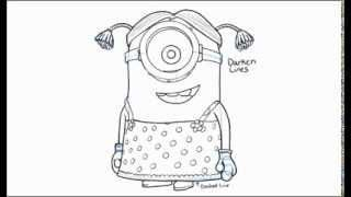 how to draw a minion - YouTube...to go with writing prompt......If you had a minion what would you make it do?