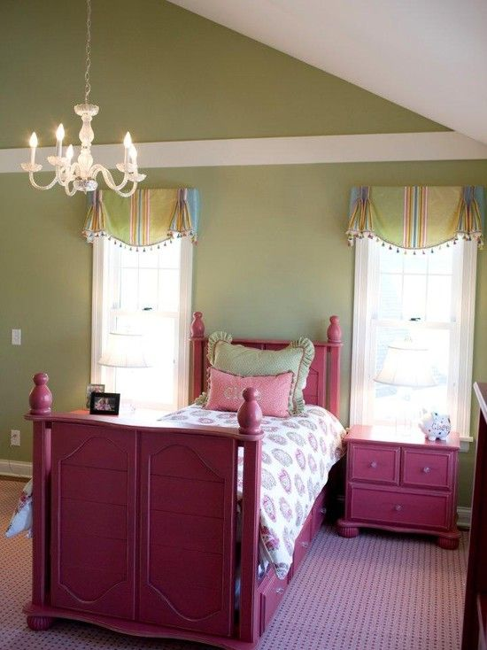 This room is designed for my granddaughter who is 5 years old.  Pink is her favorite color and she loves hot air balloons. The bed, end tables and dresser would be white so that the furniture can grow with the child.