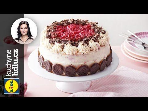 Malinový dort s mascarpone - Markéta Krajčovičová - RECEPTY KUCHYNĚ LIDLU - YouTube