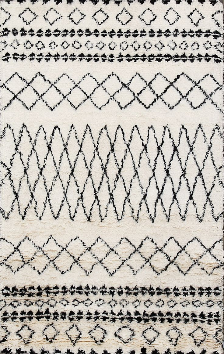 Moroccan Beni Ourain Ivory Wool Rug 12185                                                                                                                                                                                 More
