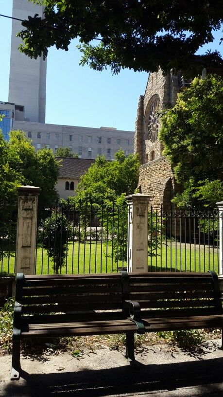 Rear exterior of St. Georges Cathedral, Cape Town,  South Africa