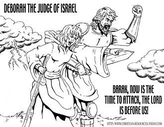 bible coloring pages about deborah - photo#23