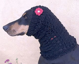 Free Patterns Cowl Neck Scarf For Large Dogs