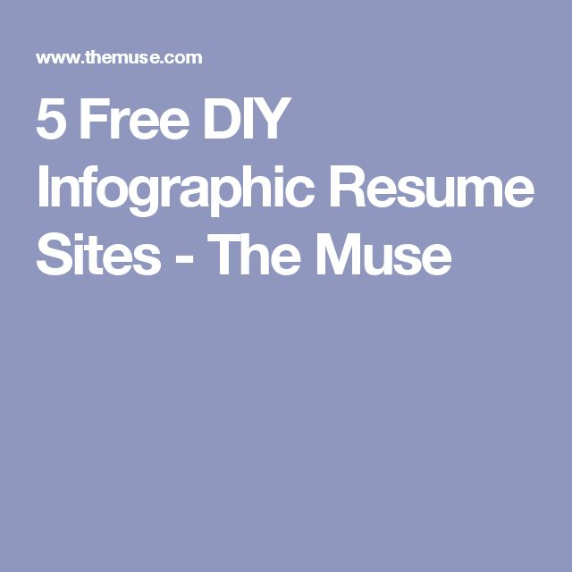 5 Sites To Create An Awesome Infographic Resume (Even If
