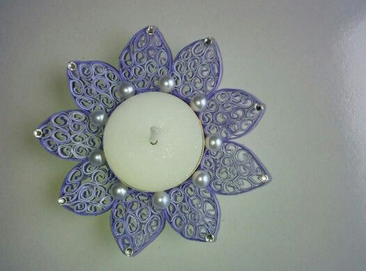 Quilling candle holder from Sanskruti Art & Crafts