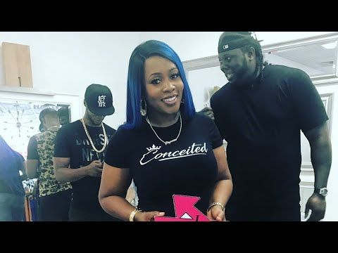 Rapper Remy Ma grand opening for her store conceited of Love & Hip Hop New York - YouTube