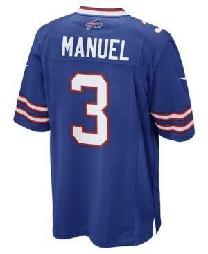 Nike Men's E.j. Manuel Buffalo Bills Game Jersey  - Blue L