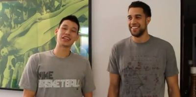 Jeremy Lin and Landry Fields 'Secret' Handshake (video)