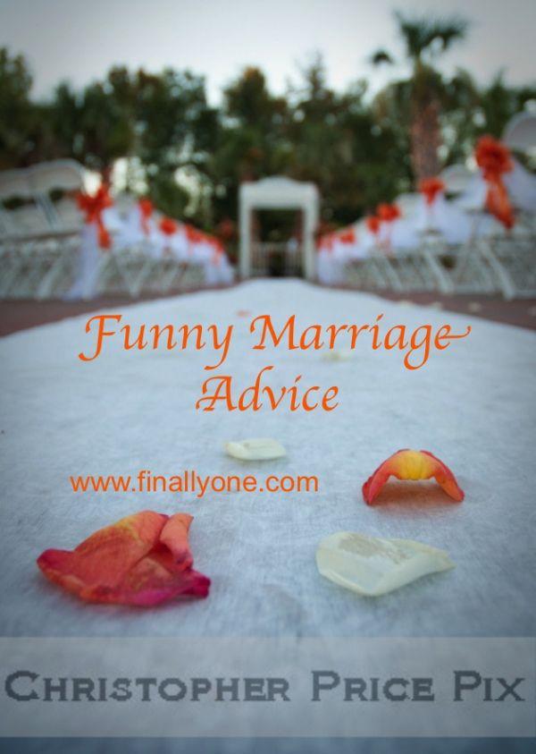 Funny Marriage Advice on finallyone.com