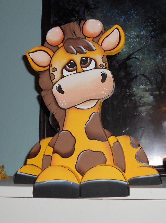 Adorable jirafa woodcraft estante niñera por WOODLANDCRITTERS