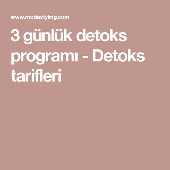 3 günlük detoks programı - Detoks tarifleri
