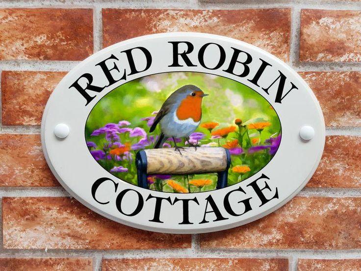 Robin printed house sign (code 002)