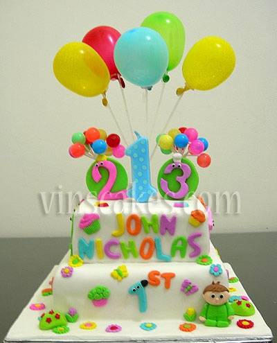 Vin's Cakes - Birthday Cake & Cupcake - Wedding Cupcake - Bandung Jakarta Online Cakes Shop: Charlie and The Numbers Cake for John
