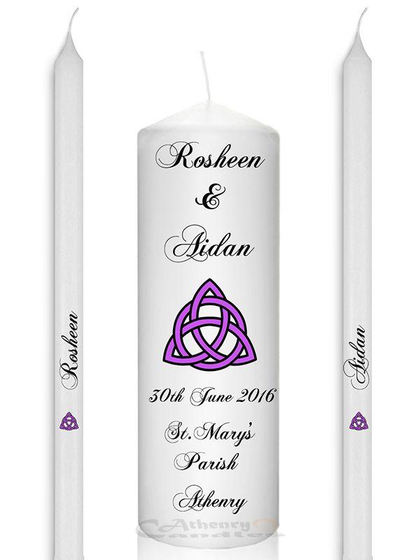 Wedding Unity Candle Set Celtic