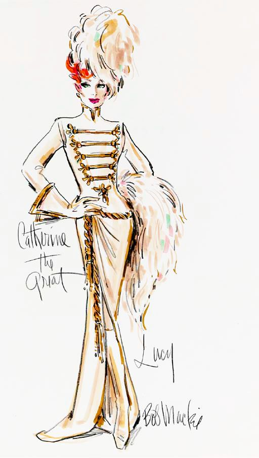 """Costume Design by Bob Mackie for Lucille Ball, """"Catherine The Great"""" on the """"Carol Burnett Show"""""""