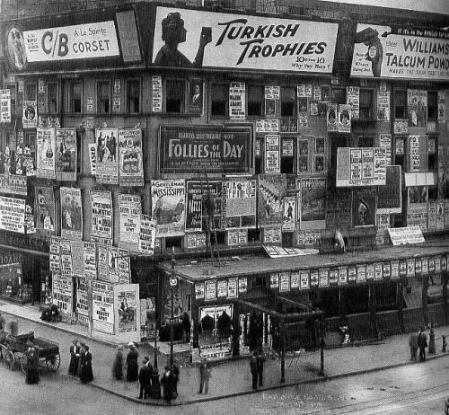 Times Square Billboards ca. 1900 Wonderful photo on Retronaut, billboards on Times Square ca 1900