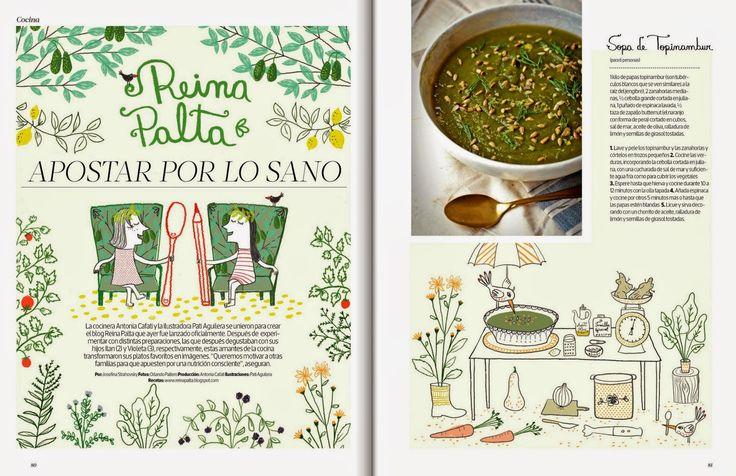 Hoy: Reina Palta en Revista Mujer - Cositas Ricas Ilustradas por Pati Aguilera