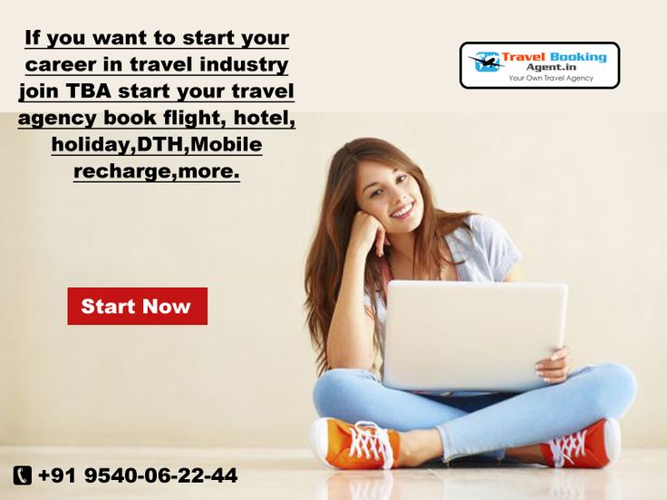 If you want to start your career in travel industry join TBA start your travel agency book flight, hotel, holiday,dth,mobile recharge,more...  visit : http://www.travelbookingagent.in/