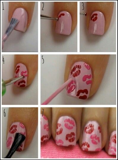 DIY Valentines Day nails