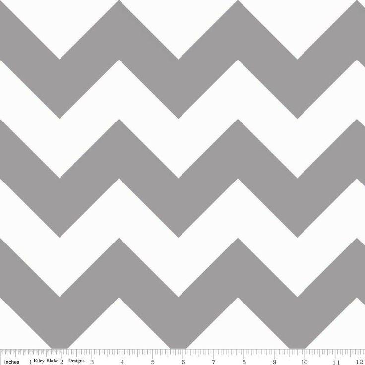 Riley Blake - Chevrons Large Gray - cotton fabric